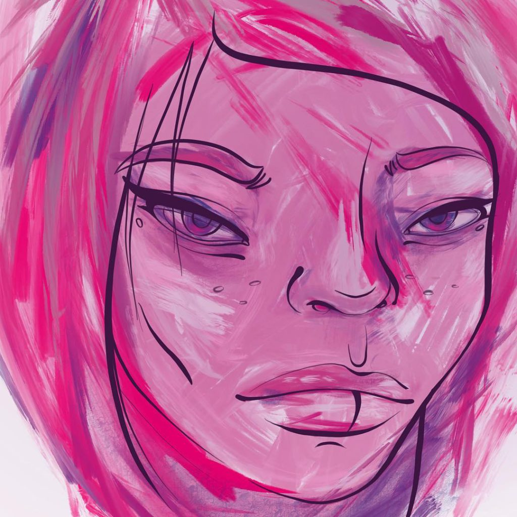 Pink face