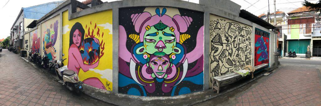 Alien, mural 2020, Bali