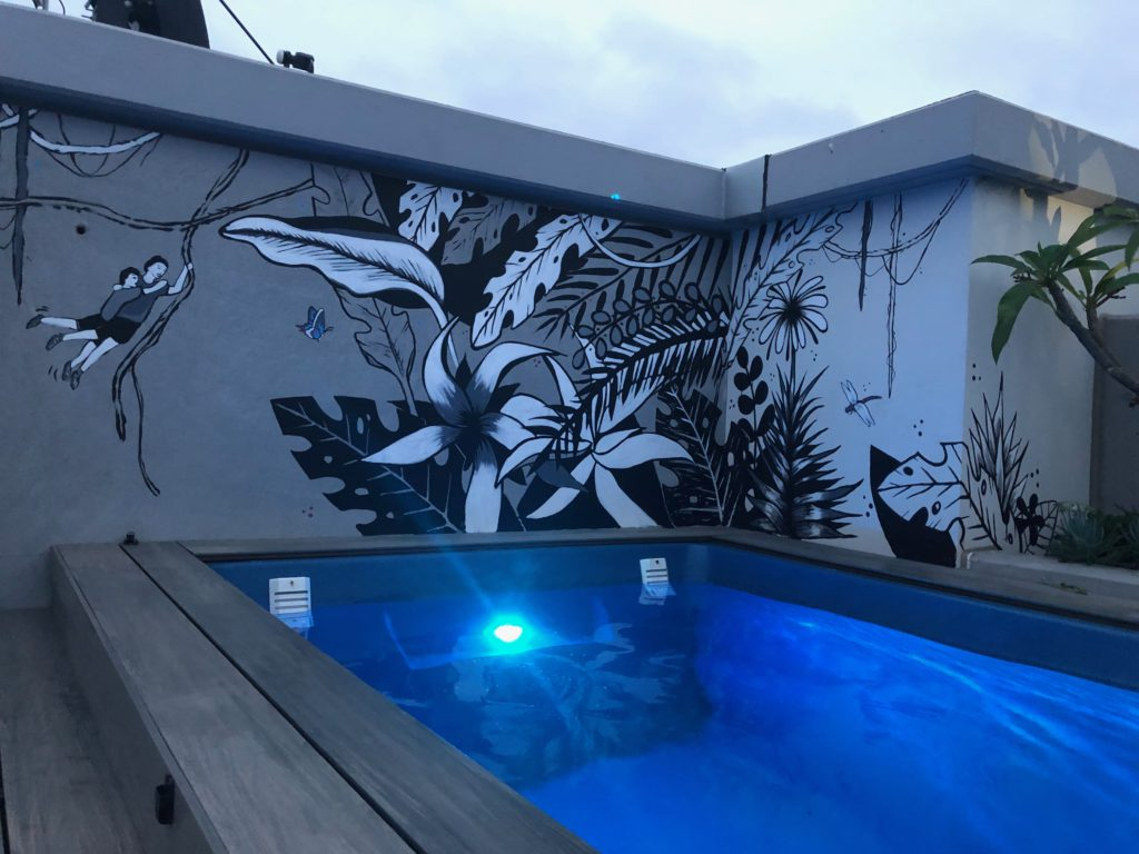 Private mural swimming pool